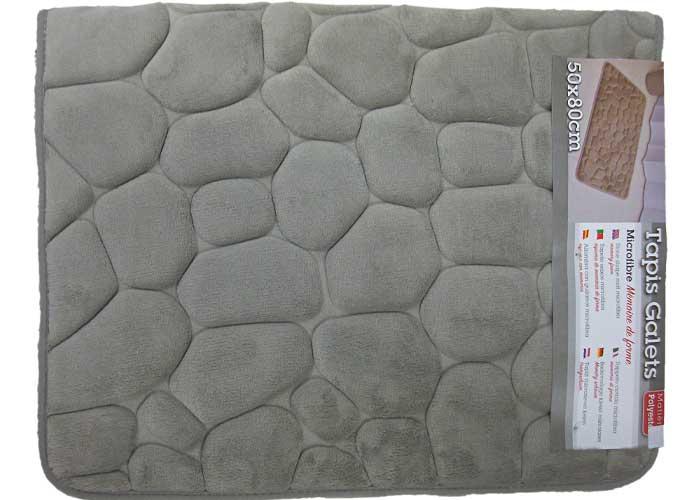 tapis de bain galets a memoire de forme
