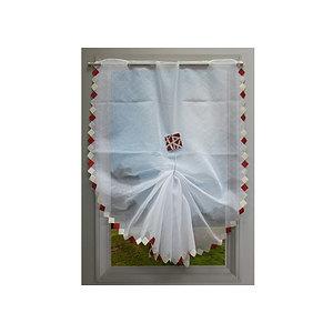rideau vitrage brode colombine 90x195 cm