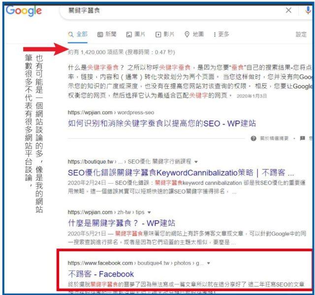 fb貼文出現在google1