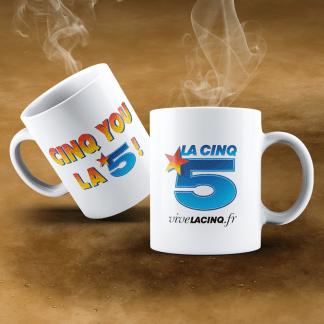 Mug céramique Cinq You La 5 !