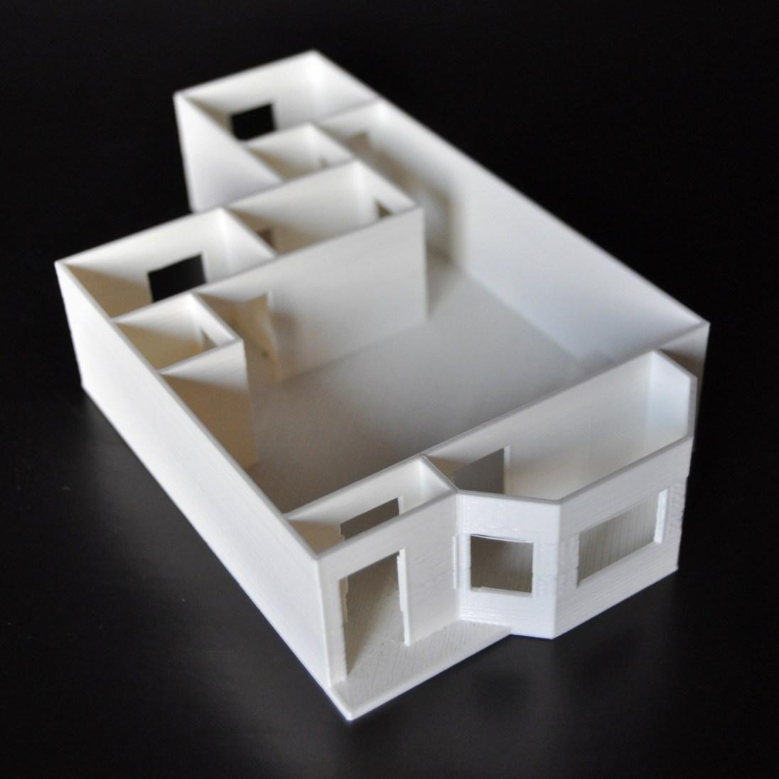 Modelo de planta de um apartamento