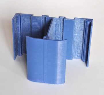 Protótipo impresso em plástico ABS.