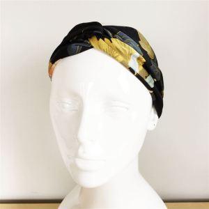 Bandeau cheveux fleuri noir jaune bleu