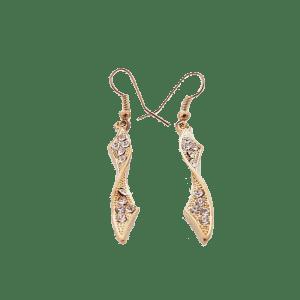 Boucles d'oreilles tourbillon dorées
