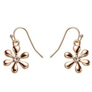 Boucles d'oreilles fleur or rose
