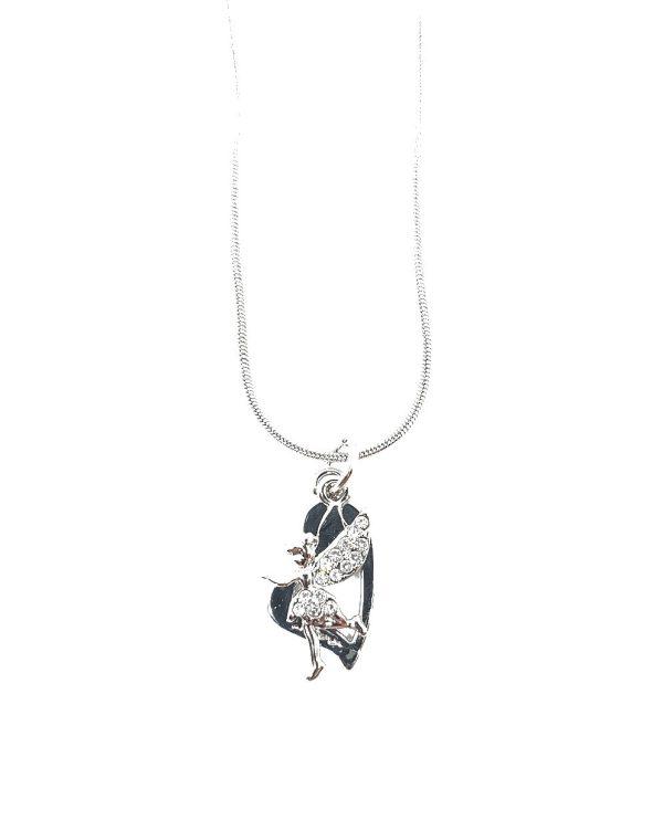 Chaîne argentée avec pendentif collection fée