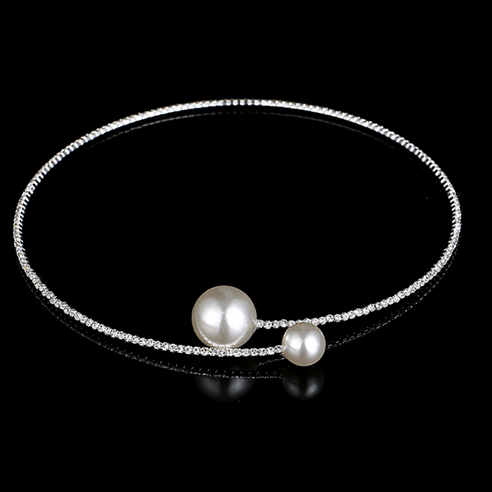Collier strass perles