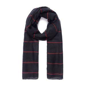 Foulard XL noir à rayures