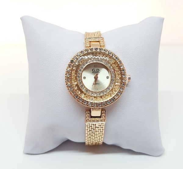 Montre rose gold strass