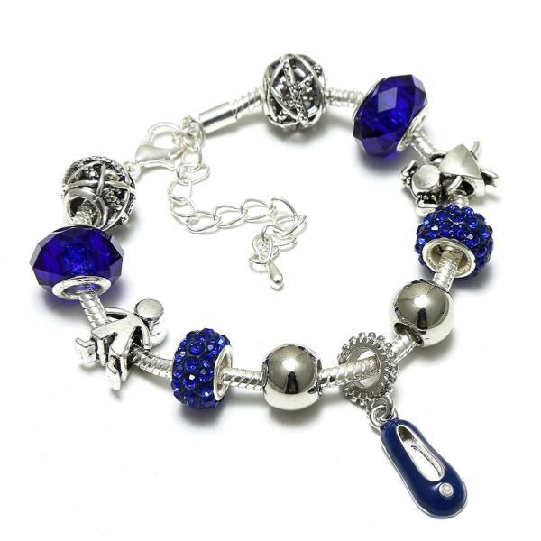 Bracelet charms bleu