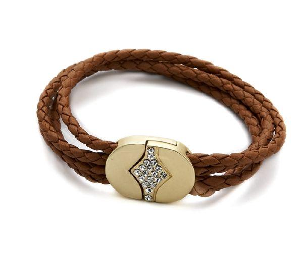 Bracelet cordon marron