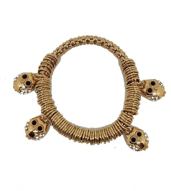 Bracelet métal doré hiboux