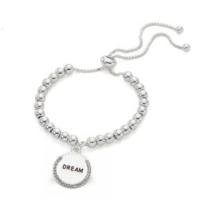 Bracelet message « Dream » - Argenté