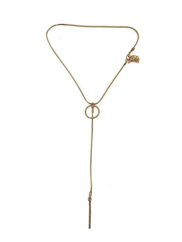 Collier doré pendentif sur chaine