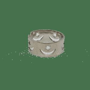 Bague de pied métal argenté réglable