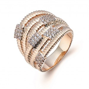 Bague large rose gold
