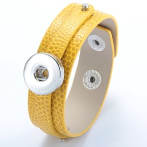 Bracelet cuir et bague jaune moutardeBracelet cuir et bague jaune moutarde