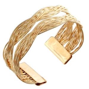 Bracelet manchette doré