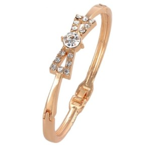 Bracelet nœuds doré