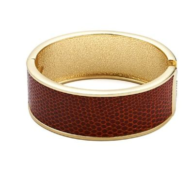 Bracelet rigide manchette marron