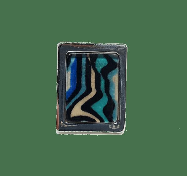 Bague Peinture métal résine Couleur bleu