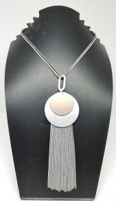 Sautoir pendentif rond presentoir