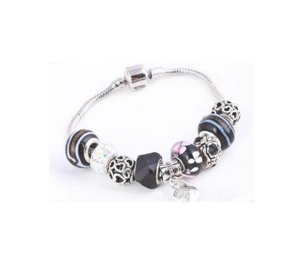 Bracelet charms perles noires