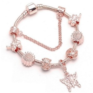 Bracelet charms rose gold