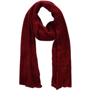 Echarpe sequins rouge