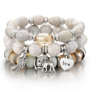 bracelet boho blanc