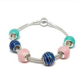 Bracelet charms tricolore