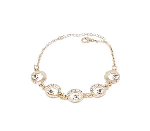 Bracelet cercles strass rose gold
