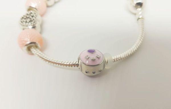 Bracelet charms corail zoom