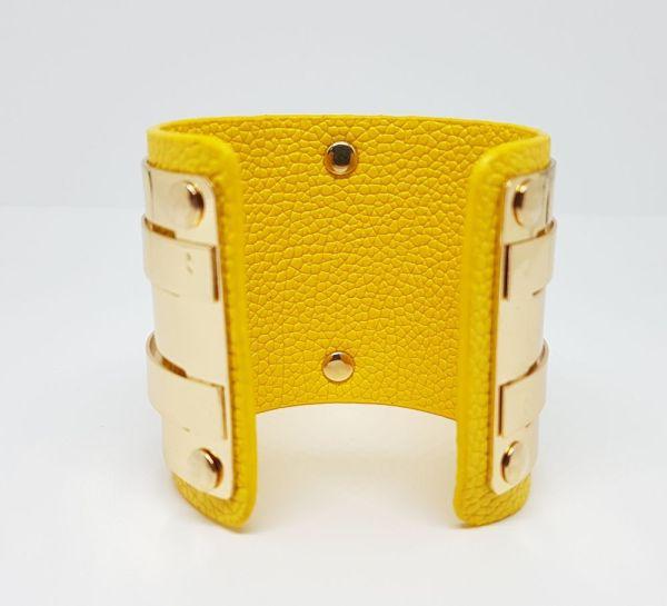 Manchette découpée jaune2