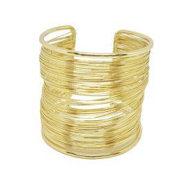 Manchette rangées de fils dorée