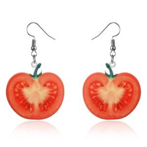 Boucles d'oreilles tomates
