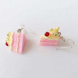 boucles d'oreilles gâteau fraise