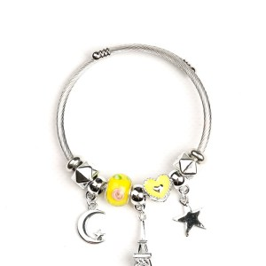 Bracelet jaune étoile lune