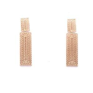 Boucles d'oreilles pendantes rose gold