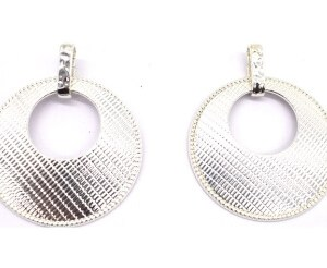 Boucles d'oreilles rondes métal argenté