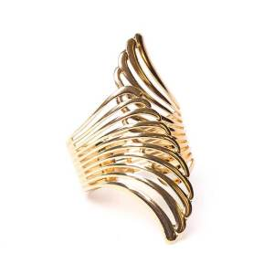 Manchette ailes d'ange dorée