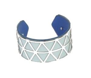 Manchette bleue triangles