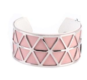 Manchette rose triangles