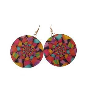 Boucles d'oreilles nacre multicolores