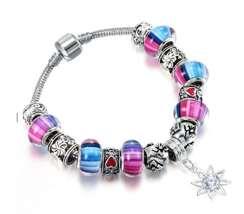 bracelet charms rose murano