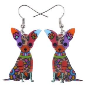 Boucles d'oreilles chien Chihuahua