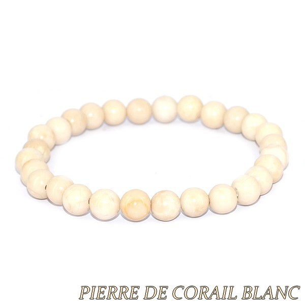 Bracelet corail blanc