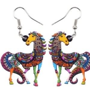 Boucles d'oreilles cheval élégant