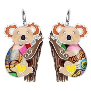 Boucles d'oreilles émail koala