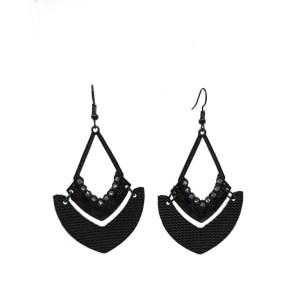 Boucles d'oreilles losanges noirs